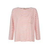 People Tree Elba Red Stripe Top