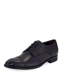 Ermenegildo Zegna New Flex Cap Toe Derby Shoes Navy
