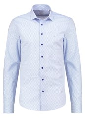Ck Calvin Klein Bari Slim Fit Shirt Blue Mottled Light Blue