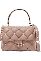 Valentino Garavani Candystud Small Quilted Leather Shoulder Bag Neutral