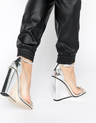 Asos Homecoming Wedges Silver