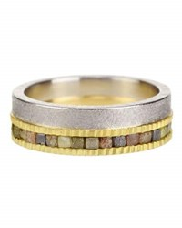 Todd Reed Sawn Diamond Double Eternity Band Ring In 18K Gold And Palladium