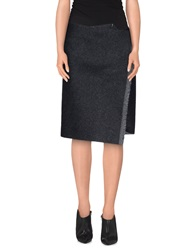 Celine Celine Knee Length Skirts Steel Grey