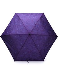 Lucien Pellat Finet Lucien Pellat Finet Skull And Cannabis Print Umbrella Pink And Purple