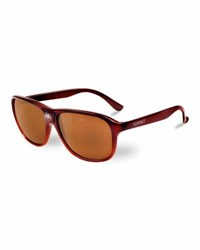 Vuarnet 03 Acetate Pilot Polarized Sunglasses Brown