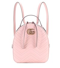 Gucci Gg Marmont Matelasse Leather Backpack Pink