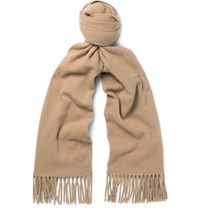 Acne Studios Canada Narrow Virgin Wool Scarf Brown