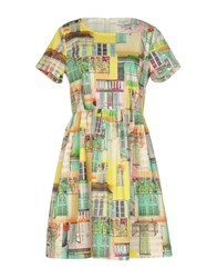 Anna Rachele Jeans Collection Short Dresses Yellow