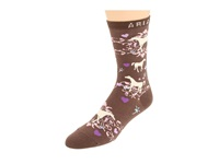 Ariat Horse Love Ankle Socks 1 Pair Pack Taupe Women's Crew Cut Socks Shoes