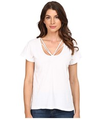 Lna Strapped Deep V Top White Women's T Shirt