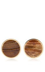 Givenchy Geometric Round Earrings With Shell Gold