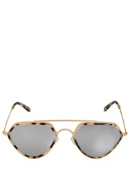 Smoke X Mirrors Marble Acetate Aviator Sunglasses