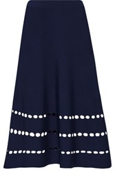 Ohne Titel Cutout Stretch Knit Skirt Midnight Blue