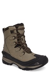 The North Face Men's Chilkat Evo Waterproof Insulated Snow Boot Rock Brown Gingerbread Brown