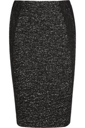 Donna Karan New York Tweed And Jersey Pencil Skirt Black