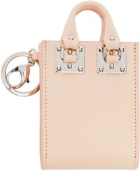 Sophie Hulme Pink Albion Tote Keychain