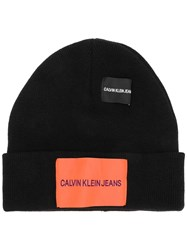 Calvin Klein Jeans Fitted Knitted Hat Black