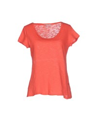 Fairly Topwear T Shirts Women Coral