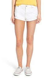 Women's Roxy 'Peaceful White' Distressed Cutoff Denim Shorts