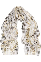 Balmain Printed Modal And Cashmere Blend Scarf