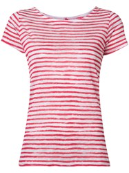 Majestic Filatures Printed Stripe T Shirt Red