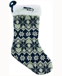 Forever Collectibles Seattle Seahawks Ugly Sweater Knit Team Stocking Navy