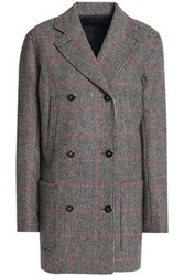 Vanessa Seward Double Breasted Checked Wool Jacket Taupe
