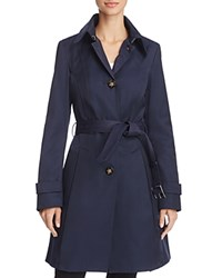 Laundry By Shelli Segal Belted Trench Coat Navy