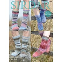 Sirdar Aura Chunky Socks Knitting Pattern 7879