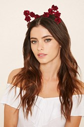 Forever 21 Floral Cat Ear Headband