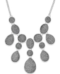 Styleandco. Style And Co. Silver Tone Multi Disc Glitter Drama Necklace Only At Macy's