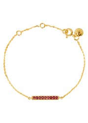 Lola Rose Curio Ruby Bar Bracelet Red