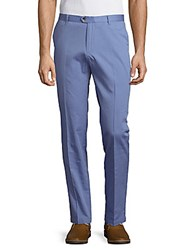 Ben Sherman Solid Cotton Pants Air Blue