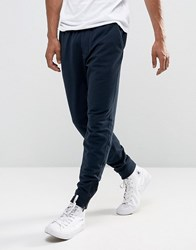 Abercrombie And Fitch Zip Hem Joggers Black Label Tapered Fit In Navy