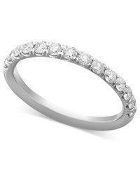 Macy's Pave Diamond Band Ring In 14K White Or Yellow Gold 1 2 Ct. T.W. White Gold