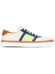 M Missoni Striped Sneakers Nude And Neutrals