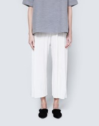 House Of Sunny Pearl Pleat Culotte Ivory
