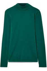 J.Crew Cotton Jersey Turtleneck Top Emerald