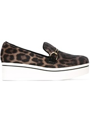 Stella Mccartney 'Binx' Leopard Loafers Black