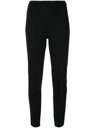 Tomorrowland High Waisted Slim Fit Trousers Black
