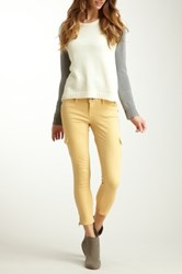 Level 99 Lindsay Crop Cargo Jean Yellow