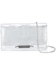 Judith Leiber Couture Mini Sloane Shoulder Bag Leather Metallic