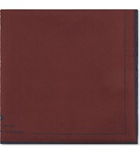 Hardy Amies Contrast Pocket Square Bordeux