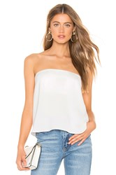 By The Way Amanda Strapless Top White