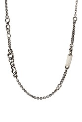 Werkstatt Munchen Sterling Silver Loose Mixed Chain Choker Gr. One Size