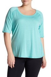 The Balance Collection Elbow Length Sleeve Retreat Tee Plus Size Blue