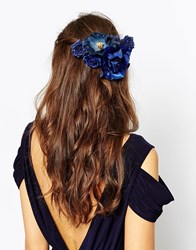 Asos Night Roses Multiway Hair And Body Corsage Navy