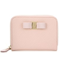 Salvatore Ferragamo Saffiano Leather Wallet Pink