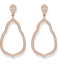 Thomas Sabo Fatima's Garden 18K Rose Gold Plated Sterling Silver And White Pave Zirconia Drop Earrings