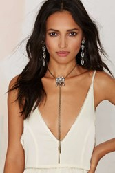 Nasty Gal Keira Chain Bolo Necklace